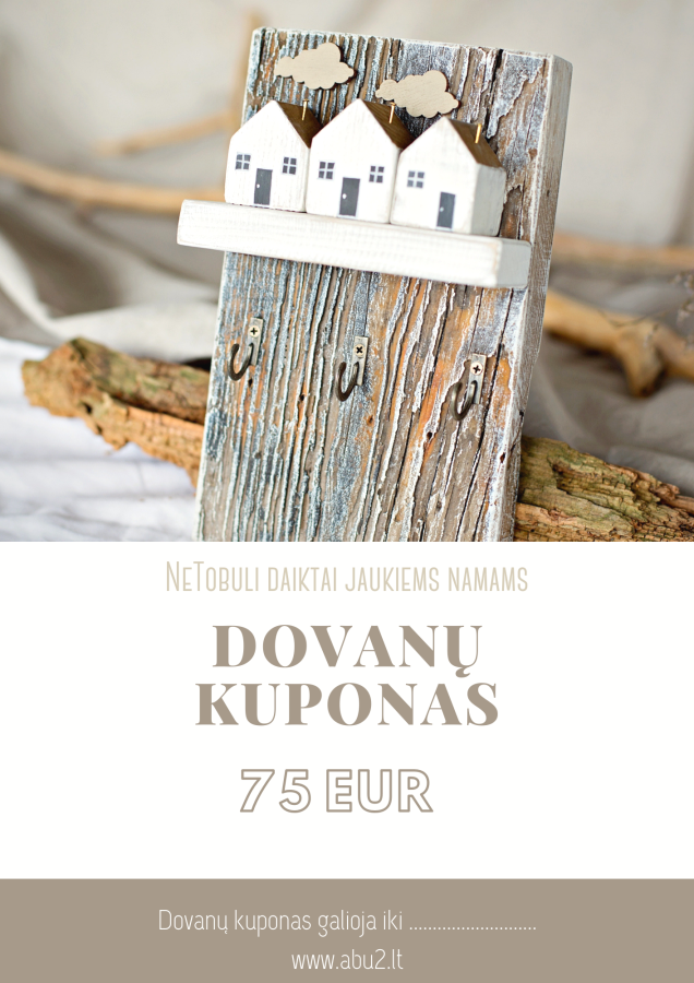 E-dovanų kuponas 75 eur